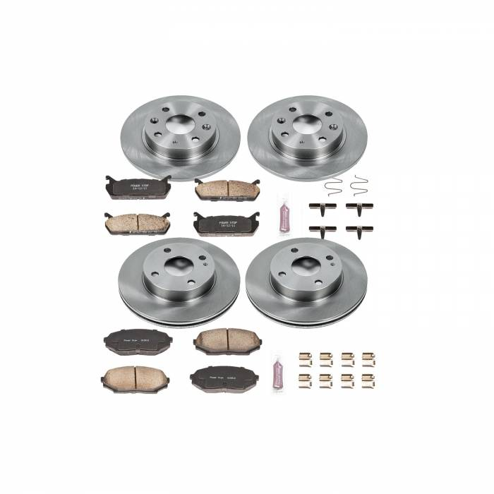 Power Stop - Autospecialty By Power Stop 1-Click Daily Driver Brake Kits | Power Stop (KOE718)