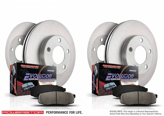 Power Stop - Autospecialty By Power Stop 1-Click Daily Driver Brake Kits | Power Stop (KOE6758)