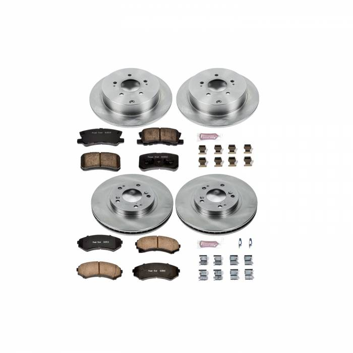 Power Stop - Autospecialty By Power Stop 1-Click Daily Driver Brake Kits   Power Stop (KOE4461)