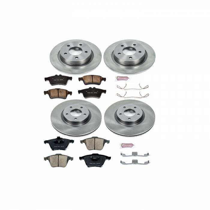 Power Stop - Autospecialty By Power Stop 1-Click Daily Driver Brake Kits   Power Stop (KOE4056)