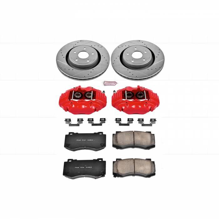 Power Stop - Z23 Evolution Sport Performance 1-Click Brake Kit w/Calipers | Power Stop (KC2924)