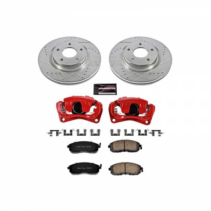 Power Stop - Z23 Evolution Sport Performance 1-Click Brake Kit w/Calipers   Power Stop (KC241)