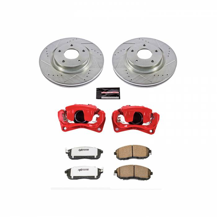 Power Stop - Z26 Extreme Street Warrior 1-Click Brake Kit w/Calipers | Power Stop (KC241-26)