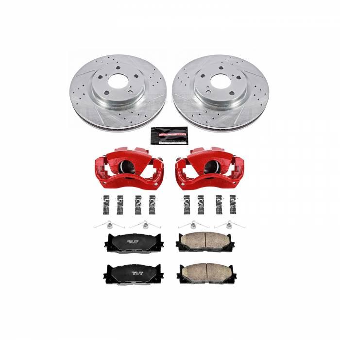 Power Stop - Z23 Evolution Sport Performance 1-Click Brake Kit w/Calipers   Power Stop (KC3053)