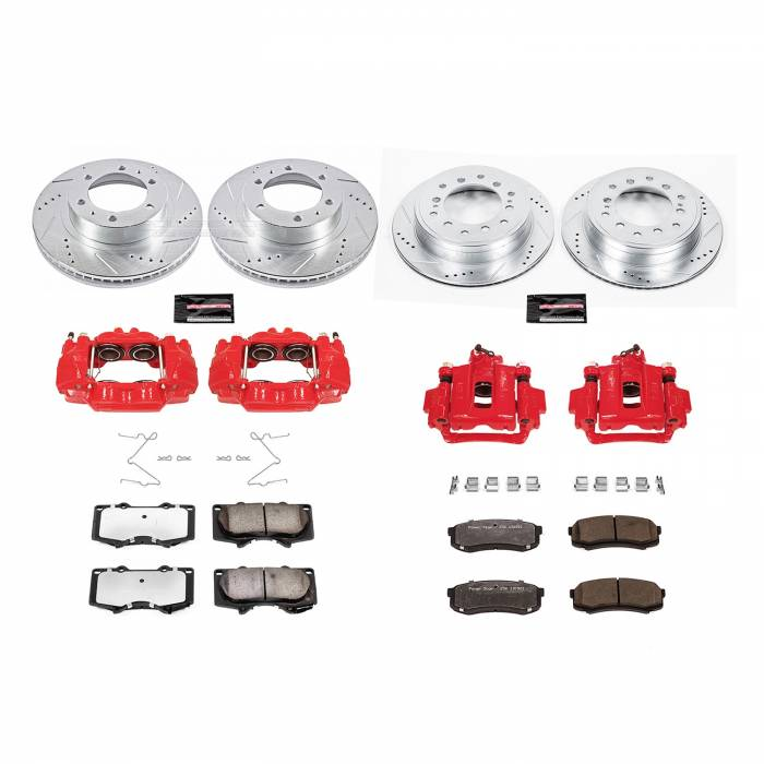Power Stop - Z36 Extreme Performance Truck And Tow 1-Click Brake Kit w/Calipers | Power Stop (KC5805-36)