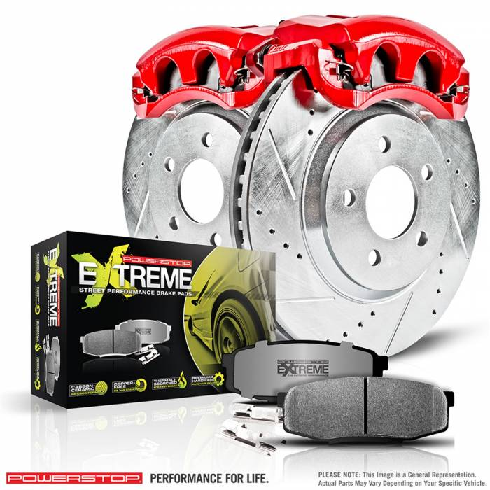 Power Stop - Z26 Extreme Street Warrior 1-Click Brake Kit w/Calipers | Power Stop (KC6317-26)