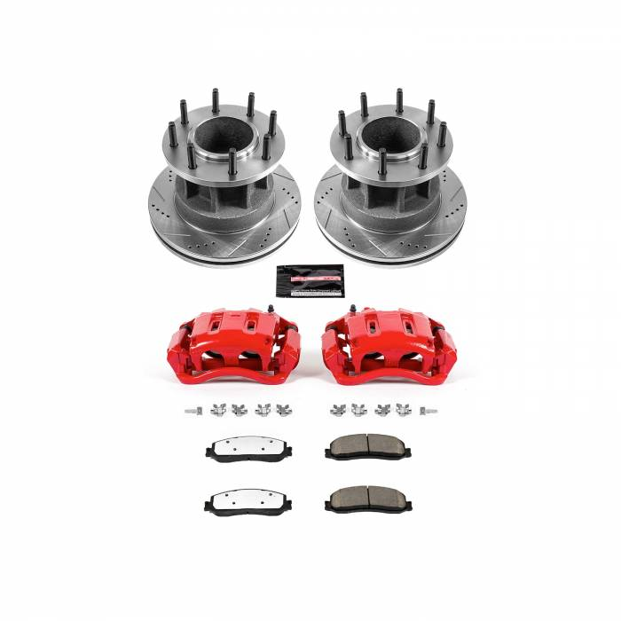 Power Stop - Z36 Extreme Performance Truck And Tow 1-Click Brake Kit w/Calipers | Power Stop (KC6526-36)