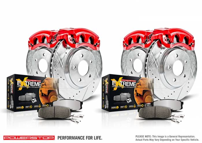 Power Stop - Z36 Extreme Performance Truck And Tow 1-Click Brake Kit w/Calipers | Power Stop (KC7141-36)