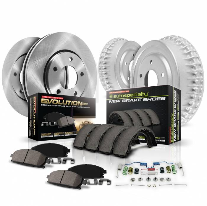 Power Stop - Power Stop 1-Click Daily Driver Drum And Shoe Kits | Power Stop (KOE15412DK)