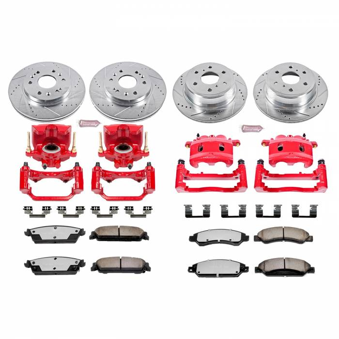 Power Stop - Z36 Extreme Performance Truck And Tow 1-Click Brake Kit w/Calipers   Power Stop (KC2068-36)