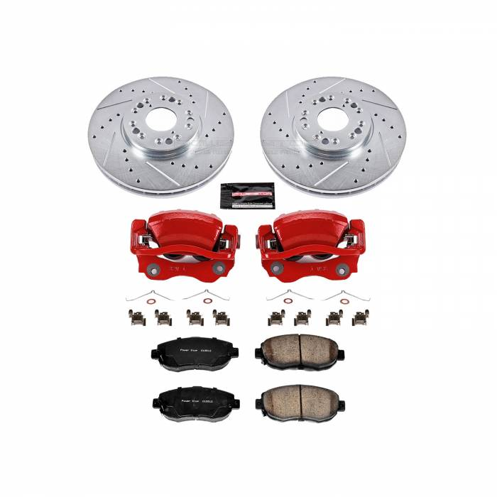 Power Stop - Z23 Evolution Sport Performance 1-Click Brake Kit w/Calipers | Power Stop (KC1077)