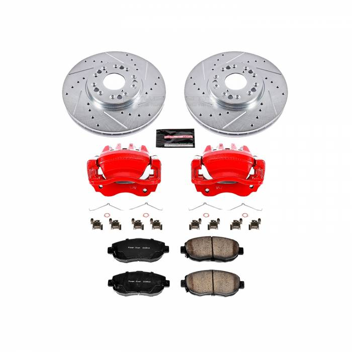 Power Stop - Z23 Evolution Sport Performance 1-Click Brake Kit w/Calipers | Power Stop (KC1077A)