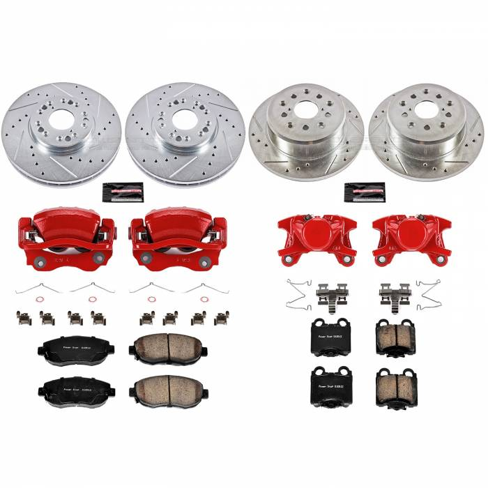 Power Stop - Z23 Evolution Sport Performance 1-Click Brake Kit w/Calipers | Power Stop (KC1079A)