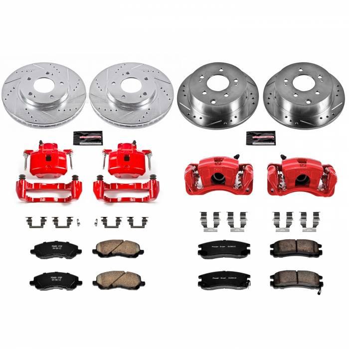 Power Stop - Z23 Evolution Sport Performance 1-Click Brake Kit w/Calipers   Power Stop (KC2395)