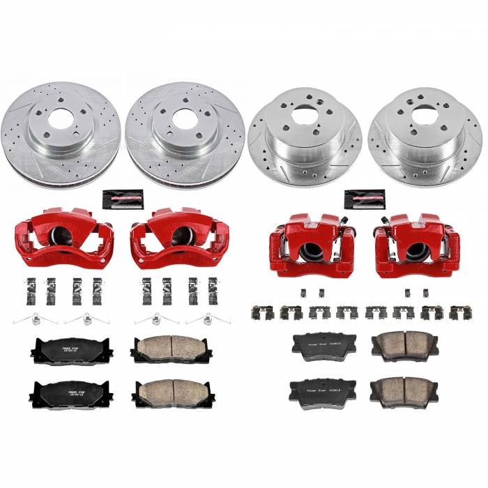 Power Stop - Z23 Evolution Sport Performance 1-Click Brake Kit w/Calipers | Power Stop (KC2822)