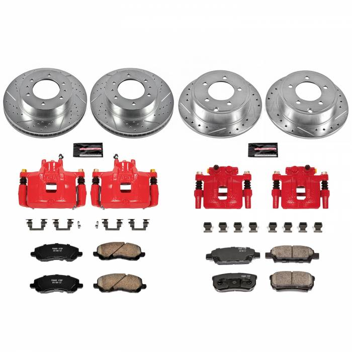 Power Stop - Z23 Evolution Sport Performance 1-Click Brake Kit w/Calipers | Power Stop (KC2840B)