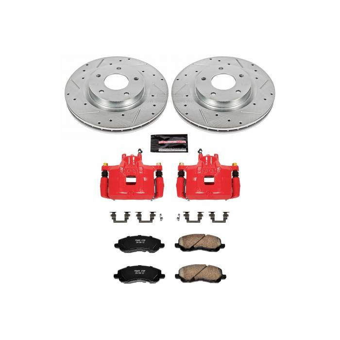Power Stop - Z23 Evolution Sport Performance 1-Click Brake Kit w/Calipers | Power Stop (KC3032B)