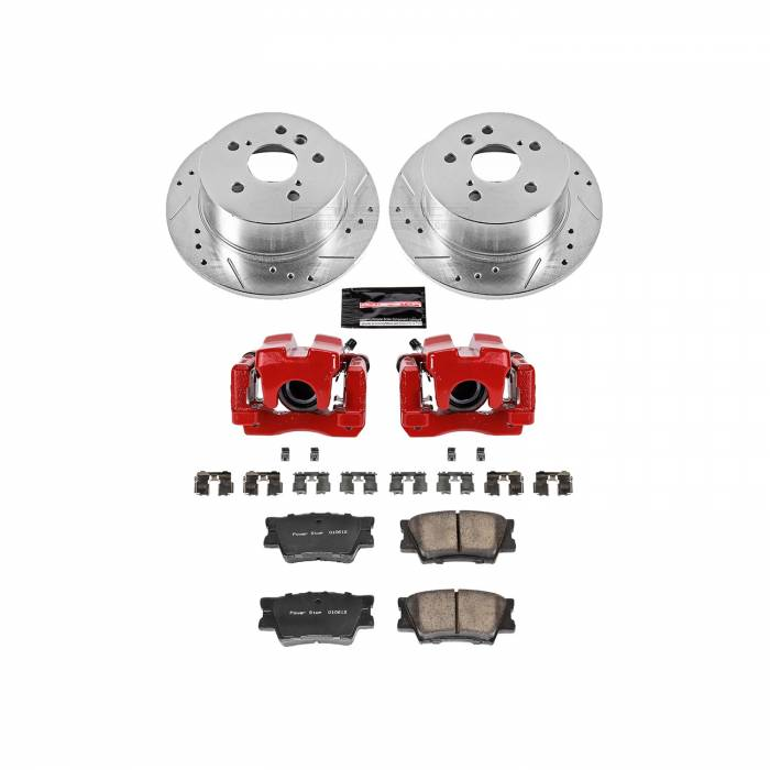 Power Stop - Z23 Evolution Sport Performance 1-Click Brake Kit w/Calipers | Power Stop (KC3068)
