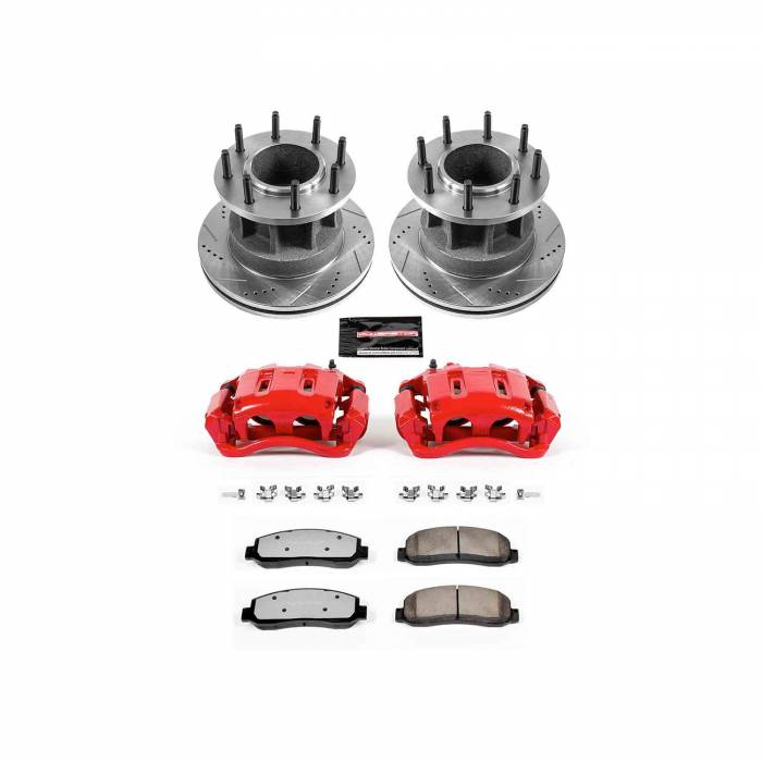 Power Stop - Z36 Extreme Performance Truck And Tow 1-Click Brake Kit w/Calipers | Power Stop (KC4595-36)