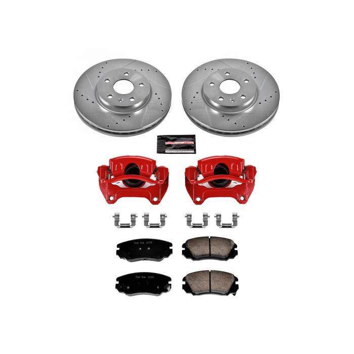 Power Stop - Z23 Evolution Sport Performance 1-Click Brake Kit w/Calipers   Power Stop (KC5334)