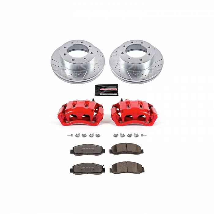 Power Stop - Z36 Extreme Performance Truck And Tow 1-Click Brake Kit w/Calipers | Power Stop (KC5412A-36)