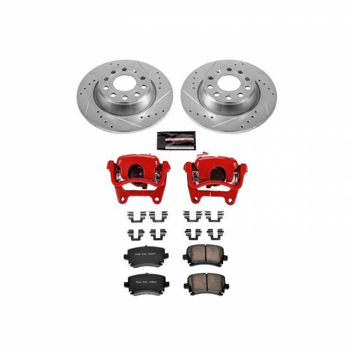 Power Stop - Z23 Evolution Sport Performance 1-Click Brake Kit w/Calipers   Power Stop (KC5662B)