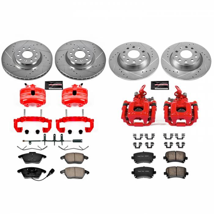 Power Stop - Z23 Evolution Sport Performance 1-Click Brake Kit w/Calipers | Power Stop (KC5798B)