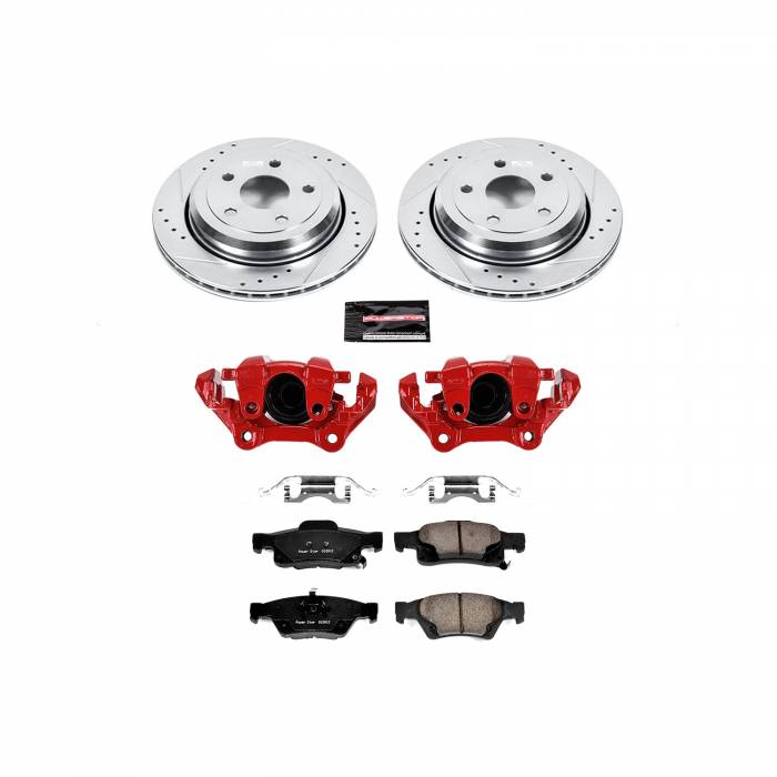 Power Stop - Z23 Evolution Sport Performance 1-Click Brake Kit w/Calipers | Power Stop (KC5953)