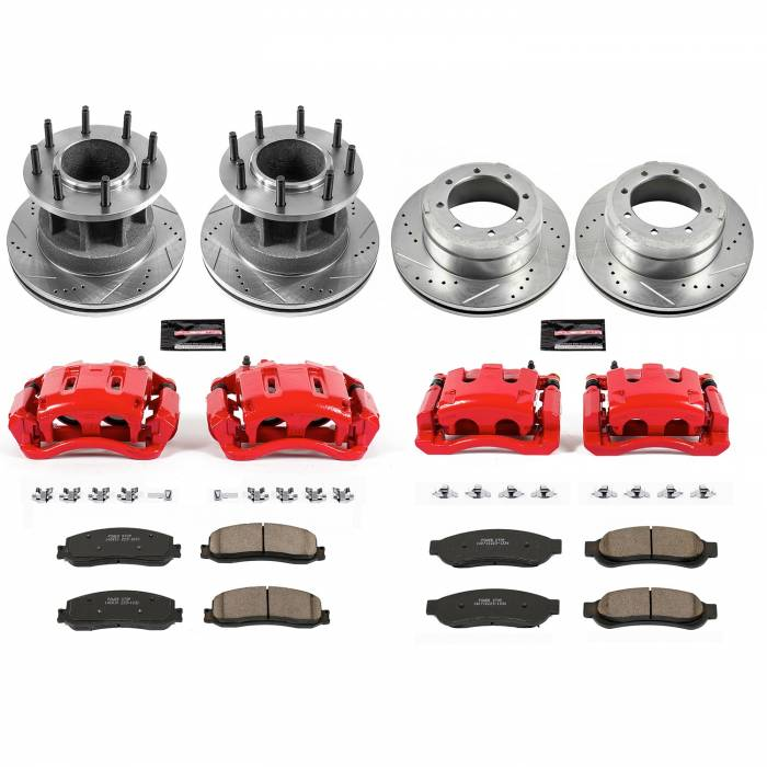 Power Stop - Z23 Evolution Sport Performance 1-Click Brake Kit w/Calipers | Power Stop (KC6527)