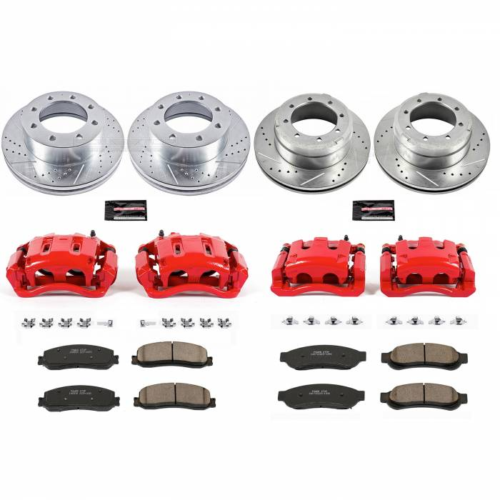 Power Stop - Z23 Evolution Sport Performance 1-Click Brake Kit w/Calipers | Power Stop (KC6546)