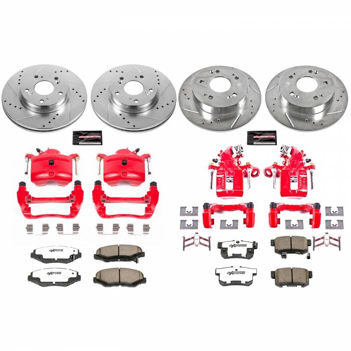 Power Stop - Z26 Extreme Street Warrior 1-Click Brake Kit w/Calipers | Power Stop (KC6942-26)