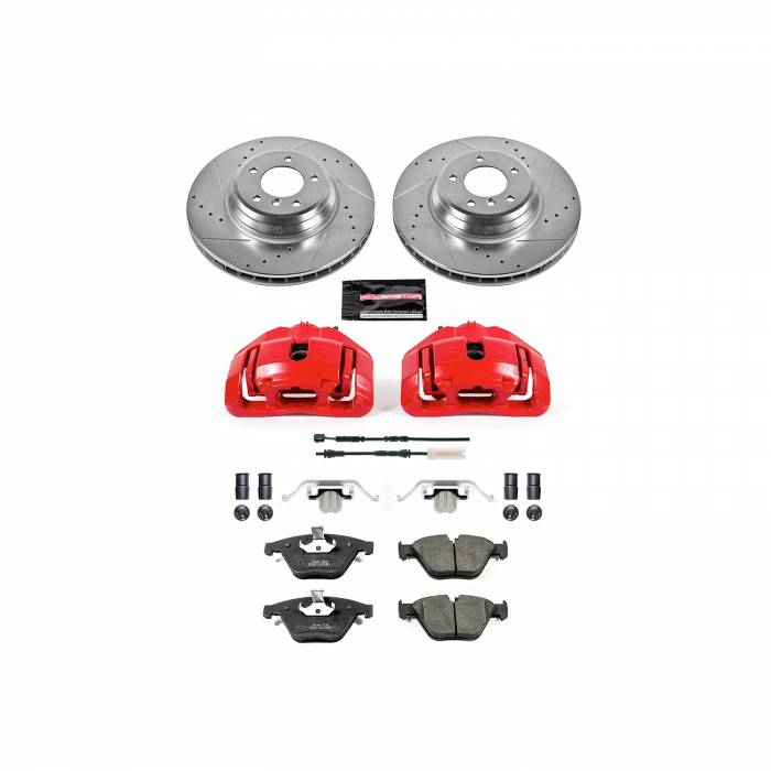 Power Stop - Z23 Evolution Sport Performance 1-Click Brake Kit w/Calipers | Power Stop (KC7022)