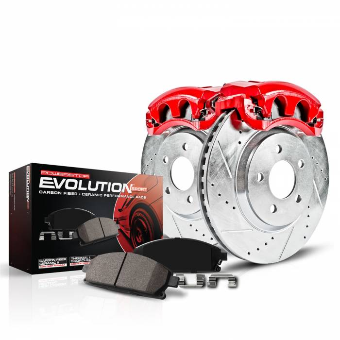 Power Stop - Z23 Evolution Sport Performance 1-Click Brake Kit w/Calipers | Power Stop (KC7215)