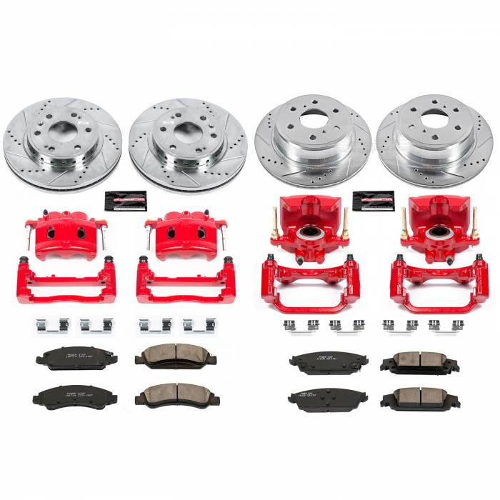 Power Stop - Z23 Evolution Sport Performance 1-Click Brake Kit w/Calipers | Power Stop (KC7225)