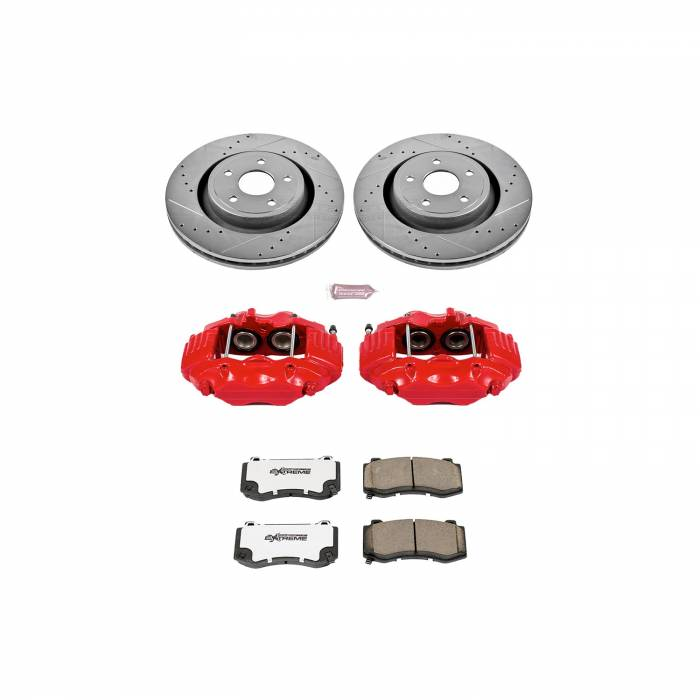 Power Stop - Z26 Extreme Street Warrior 1-Click Brake Kit w/Calipers | Power Stop (KC2924-26)