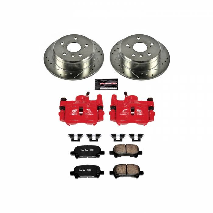 Power Stop - Z23 Evolution Sport Performance 1-Click Brake Kit w/Calipers | Power Stop (KC1083)