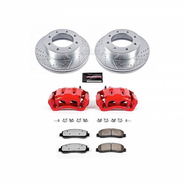 Power Stop - Z36 Extreme Performance Truck And Tow 1-Click Brake Kit w/Calipers | Power Stop (KC1781A-36)