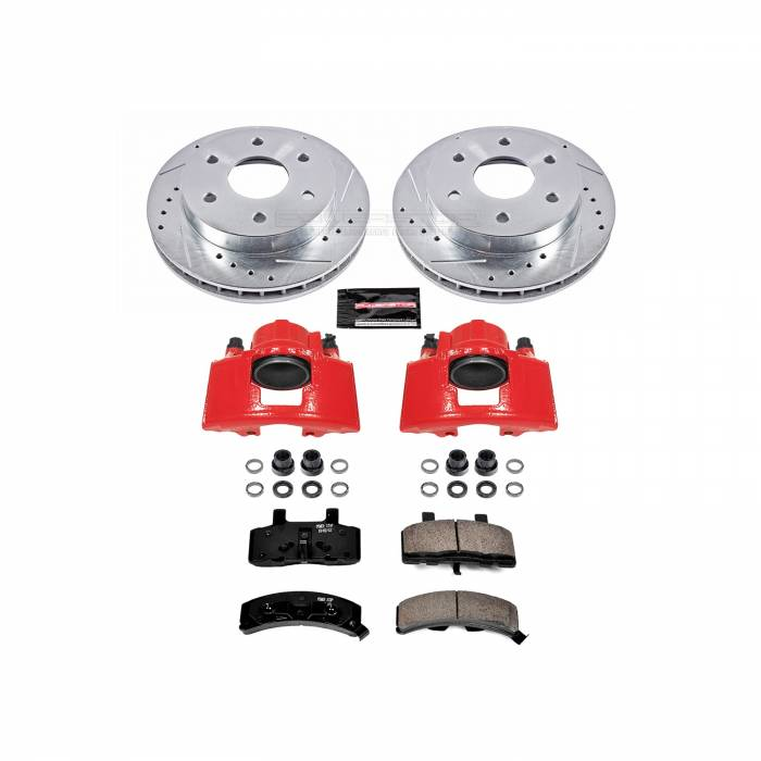 Power Stop - Z23 Evolution Sport Performance 1-Click Brake Kit w/Calipers | Power Stop (KC1970A)