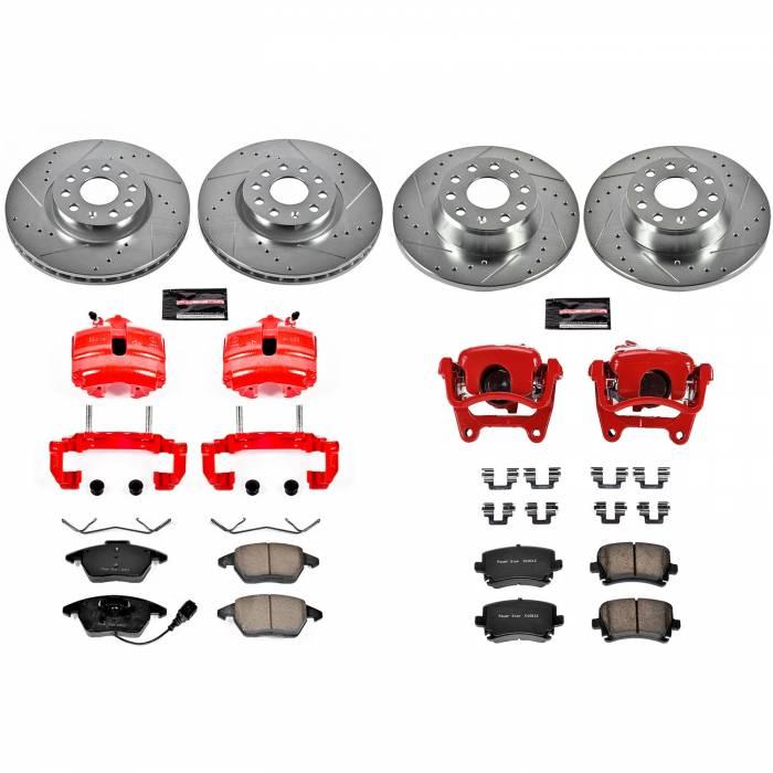 Power Stop - Z23 Evolution Sport Performance 1-Click Brake Kit w/Calipers | Power Stop (KC2260D)