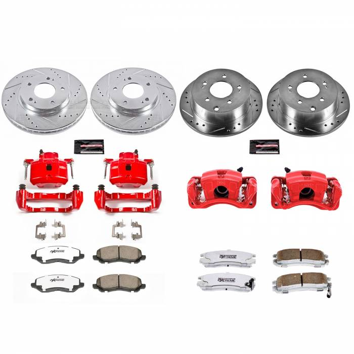Power Stop - Z26 Extreme Street Warrior 1-Click Brake Kit w/Calipers | Power Stop (KC2395-26)
