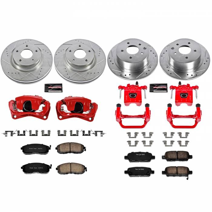 Power Stop - Z23 Evolution Sport Performance 1-Click Brake Kit w/Calipers | Power Stop (KC242)