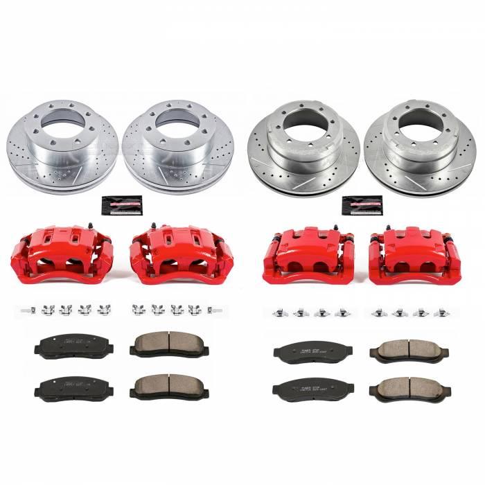 Power Stop - Z23 Evolution Sport Performance 1-Click Brake Kit w/Calipers | Power Stop (KC4033)