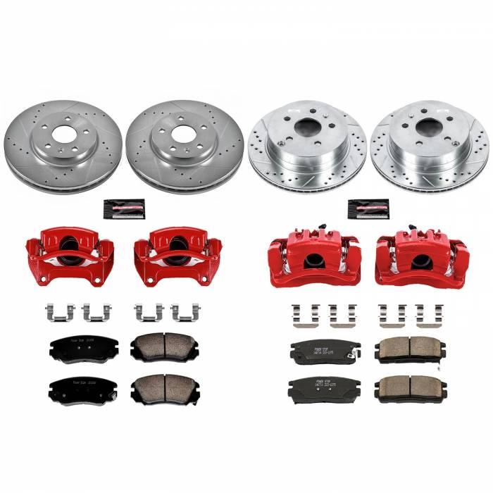Power Stop - Z23 Evolution Sport Performance 1-Click Brake Kit w/Calipers | Power Stop (KC5516)