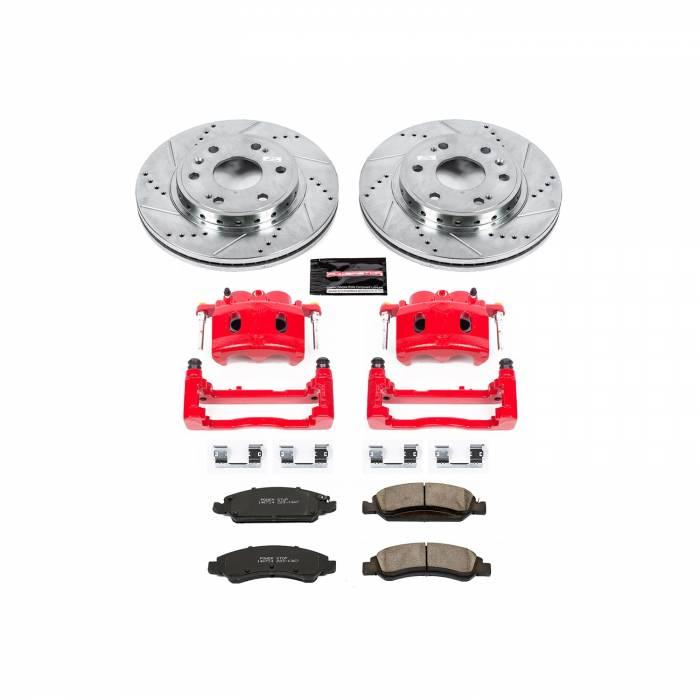 Power Stop - Z23 Evolution Sport Performance 1-Click Brake Kit w/Calipers   Power Stop (KC5519)