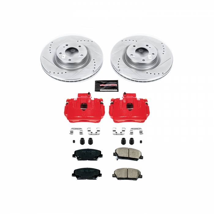 Power Stop - Z23 Evolution Sport Performance 1-Click Brake Kit w/Calipers | Power Stop (KC6169)