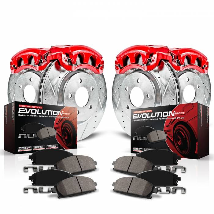 Power Stop - Z23 Evolution Sport Performance 1-Click Brake Kit w/Calipers | Power Stop (KC7021)