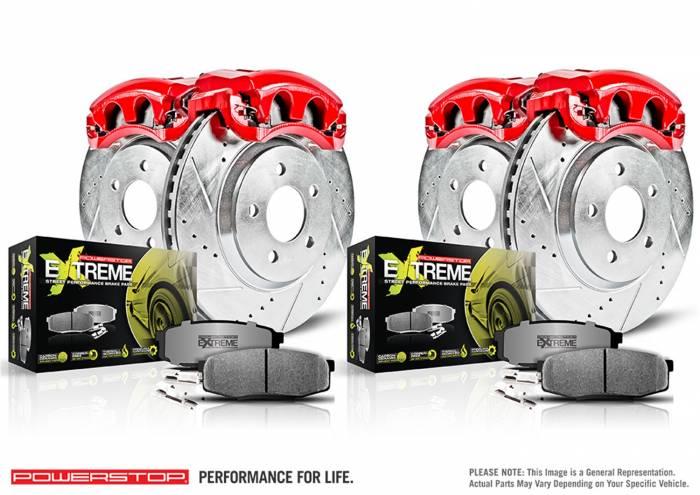 Power Stop - Z26 Extreme Street Warrior 1-Click Brake Kit w/Calipers   Power Stop (KC2876-26)