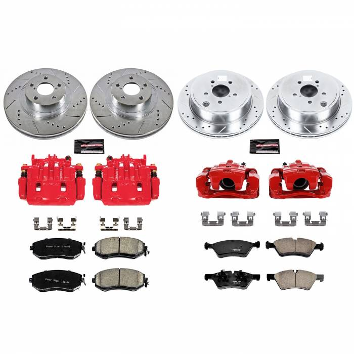 Power Stop - Z23 Evolution Sport Performance 1-Click Brake Kit w/Calipers | Power Stop (KC6164)