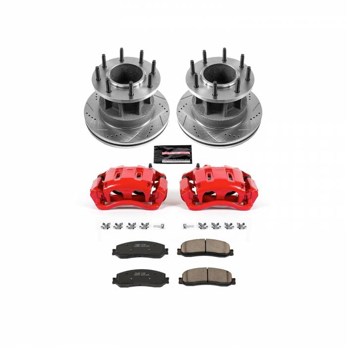 Power Stop - Z23 Evolution Sport Performance 1-Click Brake Kit w/Calipers | Power Stop (KC6526)