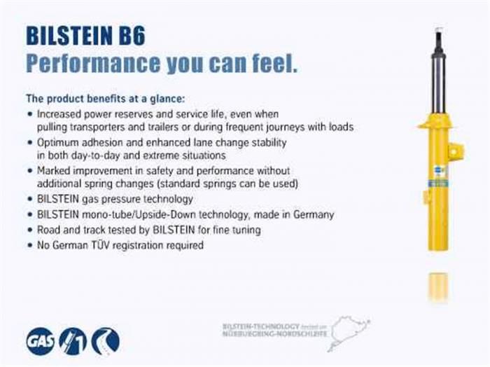 Bilstein Shocks - B6 Performance Shock Absorber   Bilstein Shocks (24-284462)